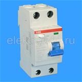 Выключатель дифференциальный УЗО  2P  40А/30мА  тип АC  F202  ABB