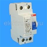 Выключатель дифференциальный УЗО  2P  63А/30мА  тип АC  F202  ABB