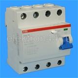 Выключатель дифференциальный УЗО  4P  63А/30мА тип АC  F204  ABB